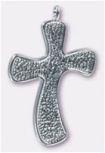 45x29mm Cross Pendant For Crystal Clay x1