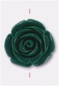 23mm Resin Green Rose Bead x1