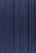 Faux Suede Cord Dark Blue x1 m