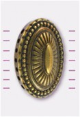 30x40mm 7 Holes Connector Oval Cabochon Antiqued Gilt x1