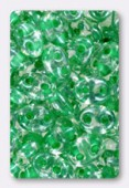 2.5x5mm Preciosa Twin Beads Crystal Light Green Lined x20g