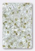 2.5x5mm Preciosa Twin Beads Crystal Silver Lined x20g