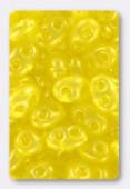2.5x5mm Preciosa Twin Beads Crystal Yellow Pearl x20g
