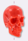 Resin Coral Death's-Head 40x24mm x1