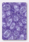 2.5x5mm Preciosa Twin Beads Crystal Pale Lilac x20g
