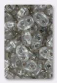 2.5x5mm Preciosa Twin Beads Crystal Gray x20g
