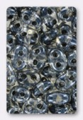 2.5x5mm Preciosa Twin Beads Gray Lined x20g