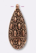 55x25mm Antiqued Copper Plated Pendant x1