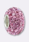 12mm Ring Pave Ball Pink x1