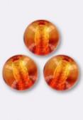 4mm Czech Smooth Round Glass Beads Fire Opal x50