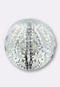12mm Silver Plated Filigree Round Beads x2