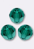 4mm Swarovski Crystal Round 5000 Emerald x10