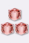 8mm Swarovski Crystal Cube 5601 Rose Peach x1