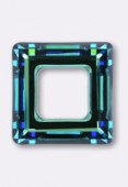14mm Crystal Swarovski Square Ring Pendant 4439 Crystal Bermuda Blue x1