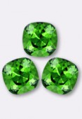 12mm Swarovski Crystal Cushion Cut Fancy Square Stone 4470 Fern Green F x1