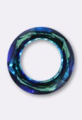 14mm  Swarovski Crystal Cosmic Ring Pendant 4139 Bermuda Blue x1