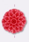 23mm Resin Pink Flower x1