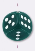 10mm Dice Bead Green x2