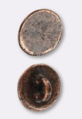 12mm Antiqued Copper Plated Button Clasp x2
