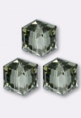 8mm Swarovski Crystal Cube 5601 Black Diamond x1