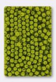 3mm Czech Glass Round Druk Beads Opaque Green x100