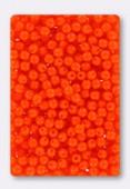 3mm Czech Glass Round Druk Beads Opaque Orange x100