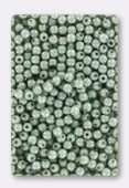 3mm Czech Glass Round Druk Beads Opaque Ceylon Green x100