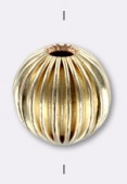 14K Gold Filled Striated Round Bead 8mm x1
