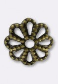 5mm Antiqued Brass Plated Bead Caps x50