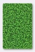 Miyuki Delica 15/0 Opaque Green x10g