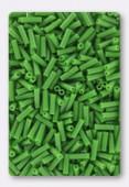 6mm Miyuki Bugle Opaque Green x10g