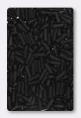 6mm Miyuki Bugle Matt Black x10g