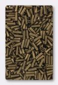 6mm Miyuki Bugle Matt Metallic Dark Bronze x10g