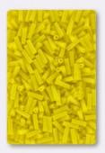 6mm Miyuki Bugle Opaque Yellow x10g