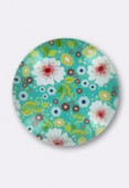 25mm Tempered Glass Cabochons, Round x1