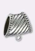 40x30x20mm Antiqued Silver Plated Spacer Bead x1