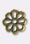 15mm Antiqued Brass Plated Open Cut Flower Beads x2