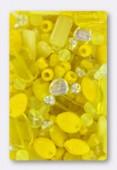 Czech Glass Bead Mixes Yellow x100g