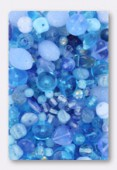 Czech Glass Bead Mixes Pale Blue x100g