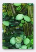 Czech Glass Bead Mixes Pale Green Mix x100g