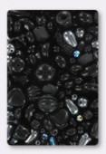Czech Glass Bead Mixes Black Mix x100g