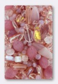 Czech Glass Bead Mixes Pink Mix x100g