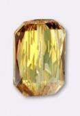 18x12.5mm Swarovski Crystal Emerald Cut Bead 5515 Crystal Metallic Sunshine x1