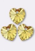 10.3x10mm Swarovski Crystal 6228 Heart Pendant Blush Rose x4