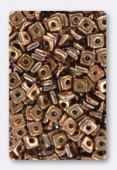 4mm Quad Bead Capri Gold x10gr
