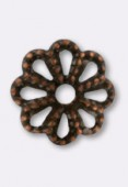 6mm Antiqued Copper Plated Bead Caps x50