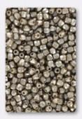 2mm Czech Round Fire Polish Glass Beads Pastel Light Brown x50