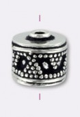 .925 Sterling Silver Bali Style Bead 9x8 mm x1