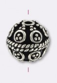 .925 Sterling Silver Bali Style Bead 9 mm x1