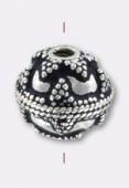 .925 Sterling Silver Bali Style Bead 12 mm x1